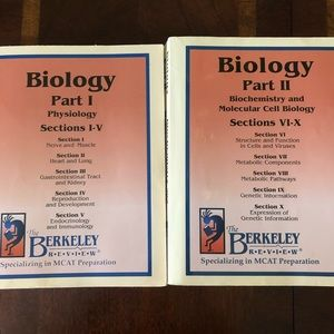 MCAT prep: The Berkeley Review Biology 1 and 2